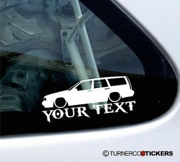 Custom Text / Name, Low Volvo 850 T5 turbo estate wagon stickers,Decals